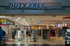 Duty Free Americas store at Miami International Airport Royalty Free Stock Photography