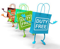 Duty Free Bags Show Tax Exempt Discounts Stock Images