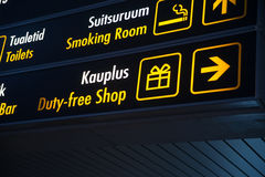 Duty Free board in Airport Royalty Free Stock Photos