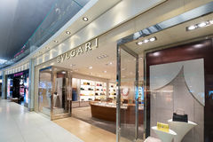 Duty free boutiques in Bangkok airport Stock Images