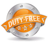 Duty free button. Duty free and no consumption tax Stock Photos