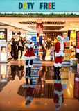 Duty free christmas shop Royalty Free Stock Images