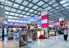 Duty free cosmetics shopping before Christmas, Bangkok internati Stock Image