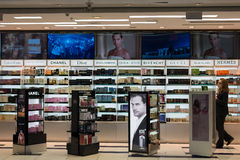 Duty Free cosmetics store at Miami International Airport Stock Photography
