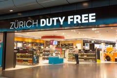 Duty-free di Zurigo dell'aeroporto Fotografia Stock