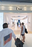 Duty free Dior boutique, Bangkok Royalty Free Stock Image