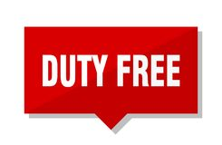 Duty free price tag. Duty free red square price tag Stock Images