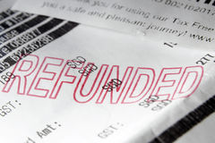 Duty free refunded Stock Images