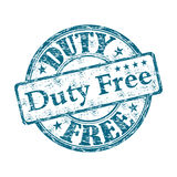 Duty free rubber stamp. Blue grunge rubber stamp with the text duty free written inside the stamp Royalty Free Stock Photo