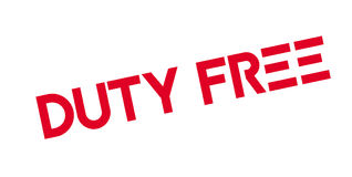 Duty Free rubber stamp Stock Photos