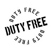 Duty Free rubber stamp Stock Image
