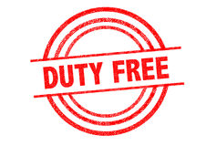 DUTY FREE Rubber Stamp Royalty Free Stock Images