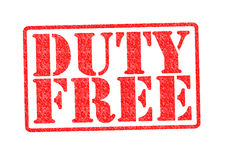 DUTY FREE Rubber Stamp Stock Images