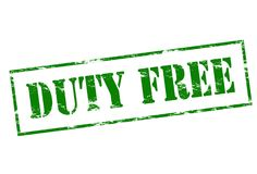 Duty free. Rubber stamp with text duty free inside,  illustration Royalty Free Stock Photos