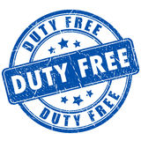 Duty free rubber stamp. On white background Stock Photo