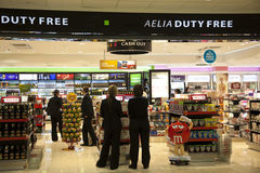 Duty Free shop Royalty Free Stock Photo