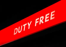 Duty free shop Royalty Free Stock Images