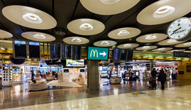 Duty free shop in Barajas Airport Royalty Free Stock Image