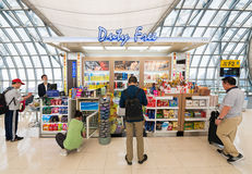 Duty free shop in departure area of Bangkok airport Royalty Free Stock Image