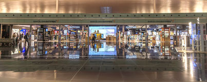 Duty free shop of El Prat-Barcelona airport Royalty Free Stock Images