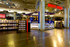 Duty free shop in istambul. Duty free shopping area in atarkuk istambul airport Royalty Free Stock Photos