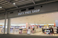 Duty free shop Kanasai airport Japan Stock Photos