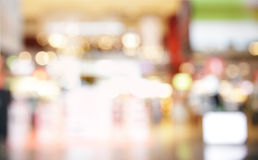 Duty free shop. Lights of duty free shop in airport - defocused background Stock Image