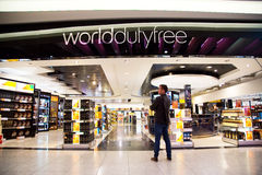 Duty free shop Stock Photos