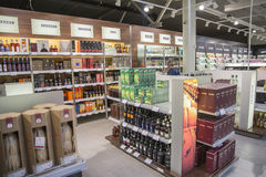 Duty free shop, moss airport rygge. Stock Photo