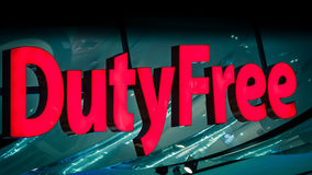 Duty Free shop sign Stock Images