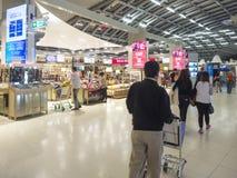 Duty free shop at Suvanaphumi Airport. Royalty Free Stock Photos
