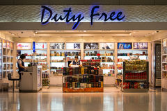 Duty free shop at Suvarnabhumi International Airport. Bangkok Stock Photo
