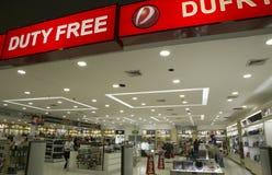 Duty free shop in Viru-Viru International Airport, Bolivia Royalty Free Stock Images