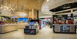 Duty Free shopping area at Dubai Airport, Dubai, UAE royalty free stock photo