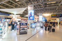 Duty free shopping area near the departure gates of one of Suvarnabhumi Airport's main terminal Royalty Free Stock Photography