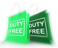 Duty Free Shopping Bag Represents Tax Exempt Discounts Stock Photography