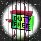 Duty Free Shopping Bag Represents Tax Exempt Discounts Royalty Free Stock Image