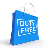 Duty Free on Shopping Bags Shows Tax Free Purchases Royalty Free Stock Image