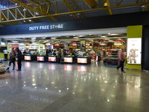 Duty free shopping Faro airport. Royalty Free Stock Photography