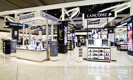 Duty free shops at Eleftherios Venizelos airport Greece Stock Photo
