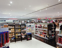 Duty free shops Stock Image