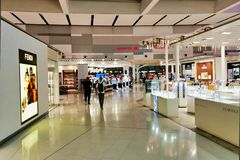 Duty Free Shopping, Sydney International Airport, Australia. Duty free shops in the modern International Departures secure area at the Sydney International royalty free stock photography