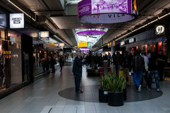 Duty free shops in the Schiphol Airport, Amsterdam, Netherlands. Royalty Free Stock Photography