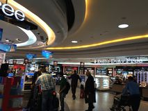 Duty Free Shops at Terminal 3 at Indira Gandhi International Airport in Delhi, India Royalty Free Stock Images