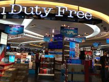 Duty Free Shops at Terminal 3 at Indira Gandhi International Airport in Delhi, India Royalty Free Stock Images