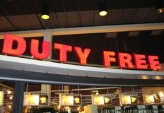 Duty free sign royalty free stock photo