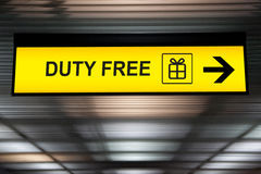 Duty Free. Sign at airport Stock Photography