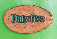 Duty Free sign Stock Image