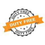 Duty free stamp illustration Royalty Free Stock Photos