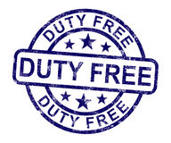 Duty Free Stamp Shows No Tax Shopping Royalty Free Stock Image